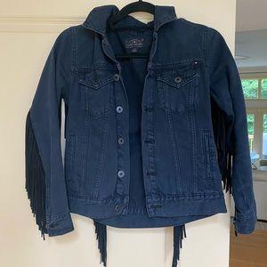 Fringe Black Denim Jacket